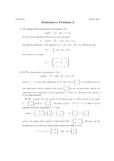 Math 325 Assignment 2 Solutions