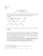 In-class problems 3 Solutions