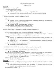 Catcher in the Rye Study Guide cHAPTERS 13 - 16 2016