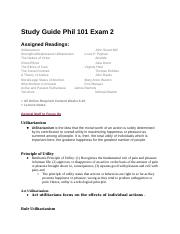 PHILOSPHY STUDY GUIDE Exam 2.docx