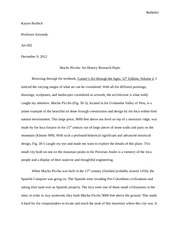 Art History Research Paper