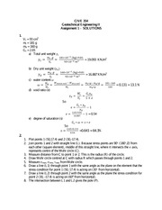 CIVE 354 assignment 1 solutions