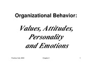 3-Values,  Attitudes, Personality and Emotions1 [Compatibility Mode]
