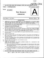 (www.entrance-exam.net)-Civil Services Examination Chemistry (Paper II) Sample Paper 1