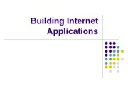 Building Internet Applications