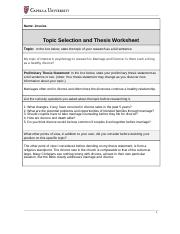 Topic selection and thesis worksheet.doc