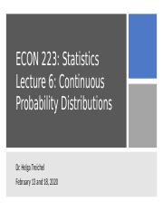 Lecture 6 Continuous Probability Distributions(1).pptx