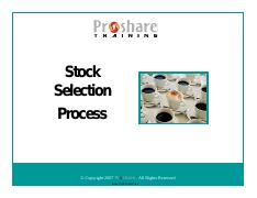 Stock Selection Process