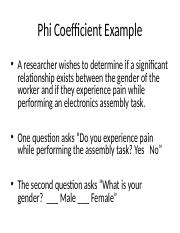 Phi Coefficient Example Power point 97-03