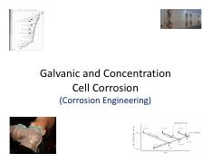 Galvanic and Concentration Cell- Corrosoin Course