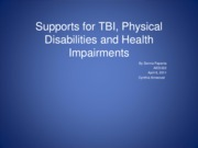 Assignment Supports for TBI Physical Disabilities and Health Impairments