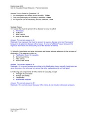 Unit 10 Practice Questions and Answers