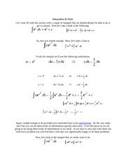 calculus 2 Integration by Parts