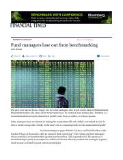Fund managers lose out from benchmarking - FT.pdf