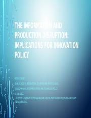 11 13 14 Policy Implications- information and production disruption KDI talk