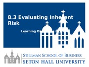 Lesson 8.3 Evaluating Inherent Risk