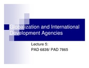 lecture 5 on DEVELOPMENT ADMINISTRATION