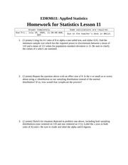 Homework J on Applied Statistics