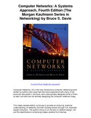 Computer Networks A Systems Approach Fourth Edition The Morgan Kaufmann Series in Networking by Br