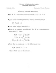 07 Continuous probability distributions