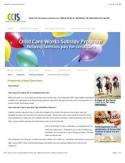 Subsidized Child Care info