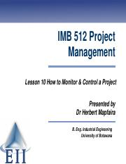 Lesson 10 How to Monitor and Control a Project.pdf
