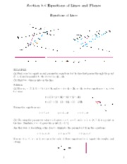 Planar equations notes