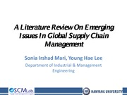 A literature Review in Supply Chain