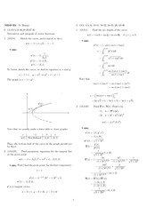 Homework 4 Solution Spring 2010 on Analytic Geometry and Calculus C