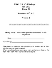 Exam 1 Fall 2012 version 2 KEY