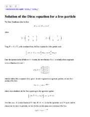 Solution of the Dirac equation for a free particle.pdf
