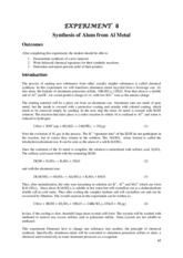 CHEM_103_Exp_07_Synthesis_Alum