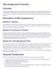 GEOL 117 ONL SU16_ Wiki Assignments Overview