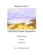 QBA 237 Managerial Report Gulf Real Estate Properties
