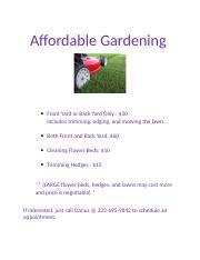 Affordable Gardening.docx