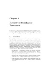 Review of Stochastic Processes