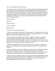 How to Write Evaluation Essays With Criteria-2