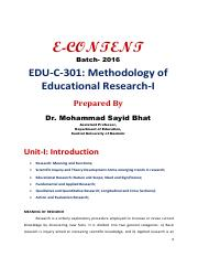 Educational Research - Dr. Mohd Sayid Bhat.pdf
