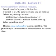 Lecture 21 on Probability and Statistics