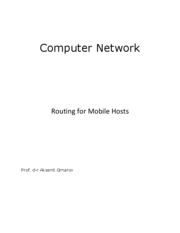 Routing in Mobile Hosts