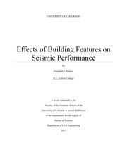 Effects of Building Features on Seismic Performance
