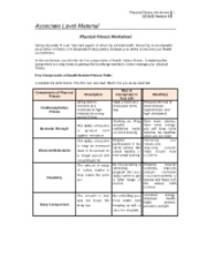 SCI 162 Week 3 Physical Fitness Worksheet