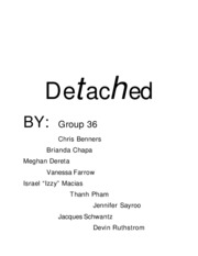 Detached Group Document- Fall 2006 - Cleveland