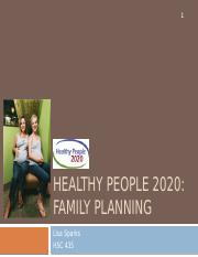 HP2020- Family Planning