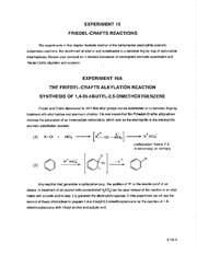 synthesis of 1 4 di t butyl 2 5 dimethoxybenzene by friedel crafts alkylation Friedel-crafts alkylation reaction introduction: the purpose of this experiment is to synthesize 1, 4-di-t-butyl-2, 5 – dimethoxybenzene by reacting 1, 4 – dimethoxybenzene with tertiary-butyl alcohol in the presence of sulfuric acid as a lewis acid catalyst.