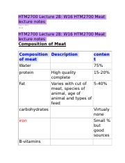 HTM2700 Lecture 28 W16 HTM2700 Meat lecture notes.docx