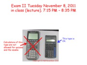 Fall 2011 Exam II Practice Worked Examples 1-11