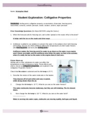 ColligativePropertiesSE - Name Kristopher Ward Student ...