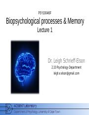 Biopsychology_2015_Lecture_1