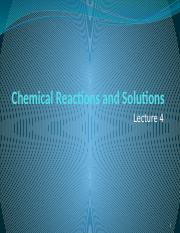Lecture 3 Chemical Reactions